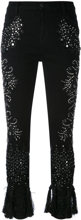 AmenAmen embellished cropped trousers
