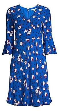 Draper James Women's Shadow Floral Dress - Size 0