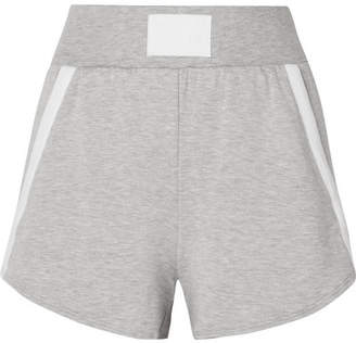 Heroine Sport Boost Grosgrain-trimmed Stretch-modal Shorts