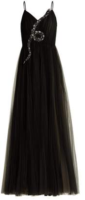Valentino Snake-embellished tulle gown
