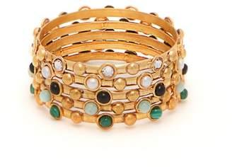Sylvia Toledano - Set Of Five Multi Stone Embellished Bracelets - Womens - Multi