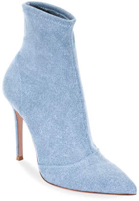 Gianvito Rossi Denim Stretch 105mm Booties