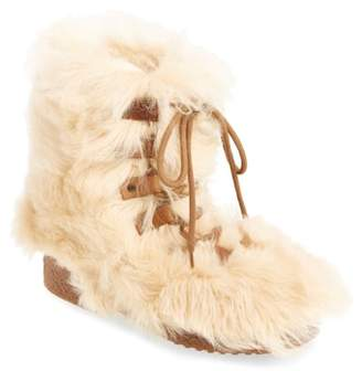 Saint Laurent Furry Genuine Shearling Boot
