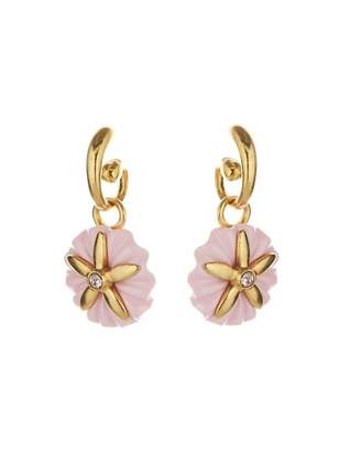 Oscar de la Renta Small Morning Glory Earrings
