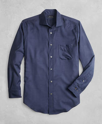 Brooks Brothers Golden Fleece BrooksTech Regent Fit Navy Sport Shirt