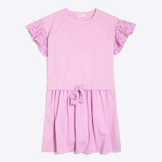 J.Crew Factory Girls' eyelet flutter-sleeve dress
