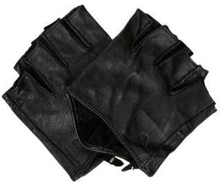 Karl Lagerfeld by Leather Fingerless Gloves w/ Tags