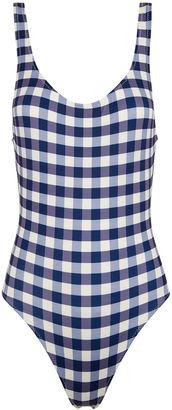 Navy & Cream Gingham Anne Marie Swimsuit