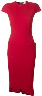 Victoria Beckham curve hem fitted dress