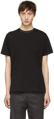 Sacai Black Button Collar T-Shirt