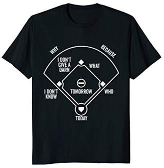 Who's on First T-Shirt Funny Positions (Dark)