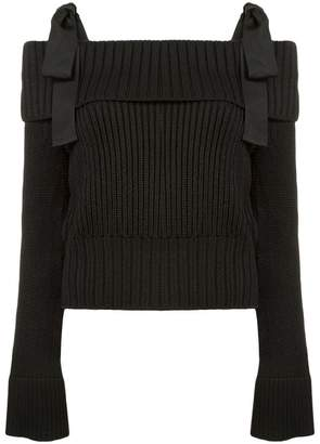 Carolina Herrera off-the-shoulder jumper