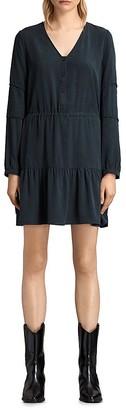 ALLSAINTS Nora Shirred Dress $268 thestylecure.com