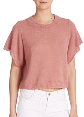 Cashmere-Silk Cropped Sweater $299 thestylecure.com