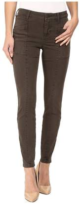 Liverpool Kylie Ankle Cargo in Cypress Dark Olive Women's Jeans
