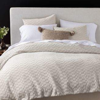 Coyuchi Organic Cotton Undyed Crystal Cove Duvet Cover, King