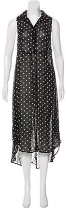 Reformation Polka Dot Sleeveless Maxi Dress