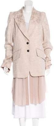 Ann Demeulemeester Jacquard Peak-Lapel Coat