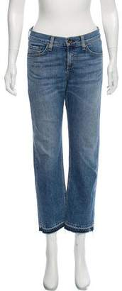 Rag & Bone Mid-Rise Crop Straight Leg Jeans