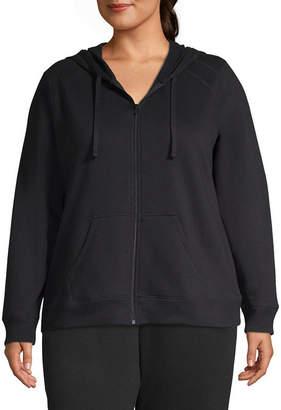 ST. JOHN'S BAY SJB ACTIVE Active Fleece Zip Up Hoodie - Plus