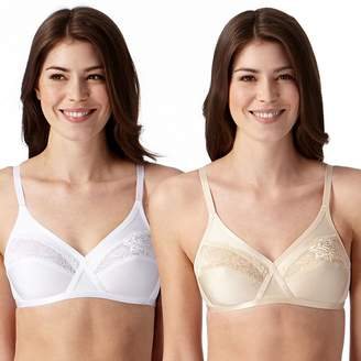 Debenhams The Collection - 2 Pack White And Nude Lace Non-Wired Non-Padded T-Shirt Bras