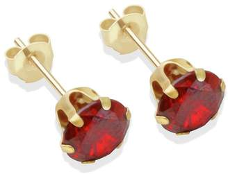 At Argos 9ct Gold Red Cubic Zirconia Stud Earrings