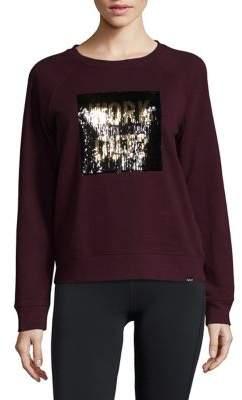 Marc New York Performance Sequin Graphic Sweatshirt