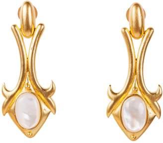 Christina Greene - Bardot Earrings in Pearl