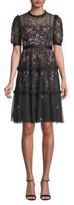 Needle & Thread Carnation Sequin Dress