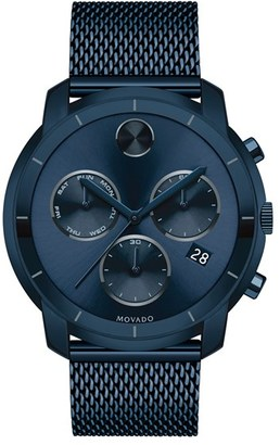 Movado 'Bold' Chronograph Mesh Strap Watch, 44Mm $795 thestylecure.com