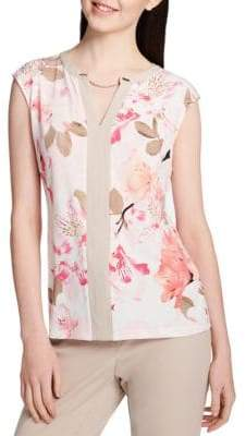 Calvin Klein Sleeveless Floral Blouse