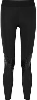 Heroine Sport - Cycling Paneled Stretch Leggings - Black