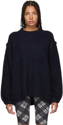 Acne Studios Navy Alpaca Chunky Kiara Sweater
