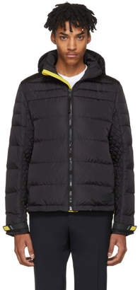 Prada Black and Yellow Down Lightweight Puffer Jacket