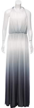 Alice + Olivia Maxi Halter Dress w/ Tags Grey Maxi Halter Dress w/ Tags