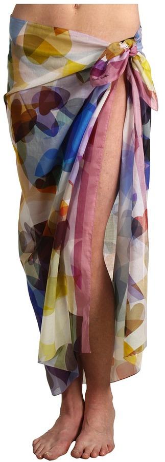 Paul Smith Heart Print Sarong (Multicolored) - Apparel