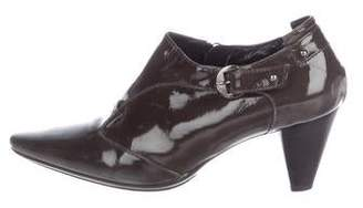 Aquatalia Patent Leather Booties