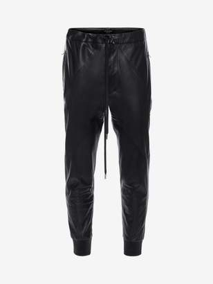 Alexander McQueen Patchwork Leather Sweatpants