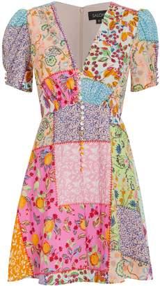 Saloni Lea Patchwork Dress