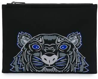 Kenzo tiger pattern clutch bag