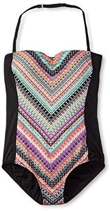 Jantzen Women's Chevron Print 1-Piece $116 thestylecure.com