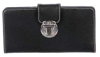 Marc Jacobs Leather Push-Lock Wallet