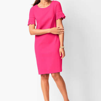 Talbots Embroidered-Sleeve Shift Dress