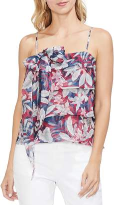 Vince Camuto Tropical Escape Tiered Camisole