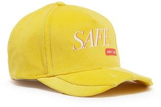 SMFK 'Safe' slogan print corduroy baseball cap