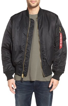 Men's Alpha Industries 'Ma-1' Slim Fit Bomber Jacket $140 thestylecure.com