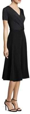 Max Mara Sandolo Short Sleeve Polka Dot A-Line Dress