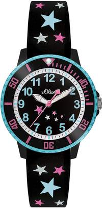 S'Oliver Girls' time Teacher Quartz Watch with Silicone Strap SO-3406-PQ