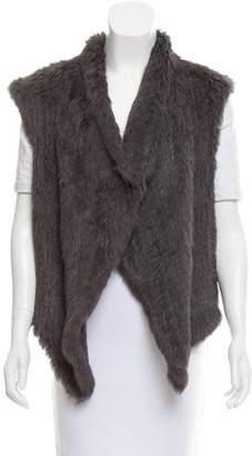 N. Nicholas Draped Fur Vest
