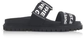 Joshua Sanders Black Go High Slide Sandals